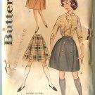 Butterick Misses Pattern 9843 Skirt & Knee Knocker waist 24 1/2 Unused
