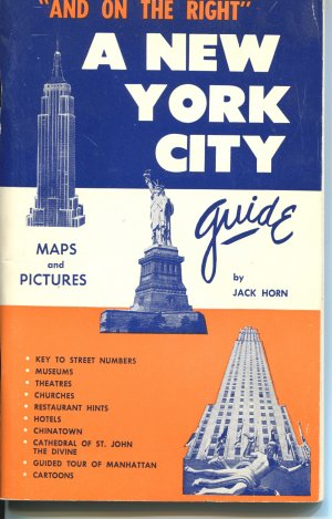 A New York City Guide by Jack Horn Signed Sixth Ed Maps