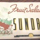 Vtge Paper Sign Ice Cream Fruit Salad Sundae Richardson Products