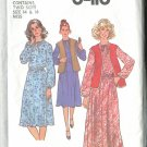 Simplicity Miss Size 14 & 16 Pullover Dress 1977