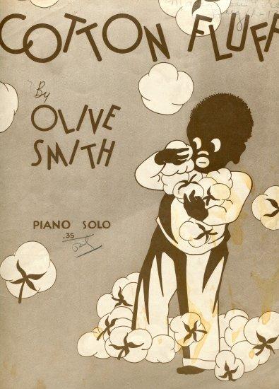 Cotton Fluff by Olive Smith Student Piano Solo 1936 Black Americana