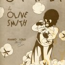 Cotton Fluff by Olive Smith Student Piano Solo 1936 Black Americana