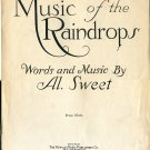 Pickaninny Lullaby 1918 Music of the Raindrops by Al. Sweet