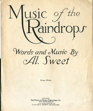 1918 Music of the Raindrops by Al. Sweet Vamp Rhythm Dialect