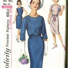 Simplicity 5319 Size 16 1/2 One Piece Dress and Jacket 1963