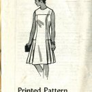 One Piece Dress Printed Pattern  Size 16 1/2 Dress