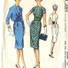 Simplicity Pattern 5134 Slim Dress & Jacket Size 14 Misses 1957