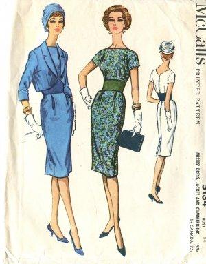Simplicity Pattern 5134 Slim Dress & Jacket Size 14 Misses 1957