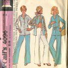 McCalls Pattern 4096 Size 12 Misses Unlined Jacket and Pants 1974