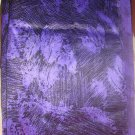Beautiful Purple Print Fabric 3 Yards Synthetic Material