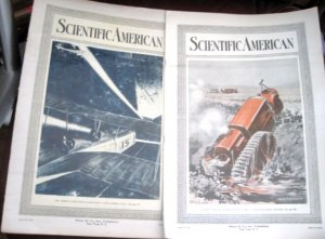 Scientific American April 21 and 28 1917 Tractor Trucks Hudson Bay RR British Airmen