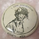 I Like Stevenson Vintage Pinback Bill Mauldin Character