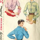Simplicity Pattern 4813 Misses Blouses Size 14 circa 1950's French Cuff