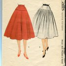 McCalls Misses Skirt Pattern 3167 Pleated or Gored 1955 Waist 26