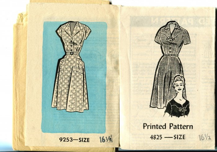 2 Size 16 1/2  Misses Dress Patterns Mail Order