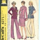 Unlined Jacket Skirt Pants for Knits McCalls Pattern 4271 Size 12