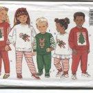 Butterick 3577 Christmas Holiday Childrens Top Pants & Headband  1994 Uncut