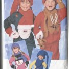 Butterick 4664 Christmas Holiday Childrens  Accessories Scarf Mittins Hat All Sizes  1996 Uncut