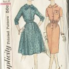 Dress Simplicity Size 16 1/2 Slenderette Pattern 3085 2 Styles of Dresses