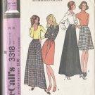 McCall Make it Easy Pattern 3318 Skirts 2 Lengths 1972 Waist 28