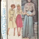 McCalls Pattern 5891 Misses Set of Blouses and Skirt Size 12 Uncut 1977