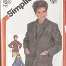 Simplicity 5664 Size 16 1982 Misses Casual Unlined Jacket  Uncut