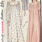 Simplicity 2646 Size 12  Misses Nightgown Long & Short  Uncut