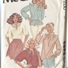 McCalls Pattern 6379 Misses Size 12 Pretty Blouses 1978