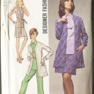Simplicity 8870 Pattern Size 10 Overblouse Mini Skirt Pants Unlined Jacket 1970