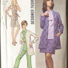 Simplicity 8870 Pattern Size 10 Overblouse Mini Skirt Pants Unlined Jacket 1970
