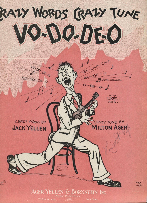 Sheet Music VO-DO-DE-O 1927 Torrid Tempo Uke Banjo Piano Voice