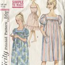 Simplicity Size Medium 14-16  3902 Misses Muu Muu Nightgown Long & Short