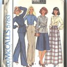 McCalls Pattern 5783 Size 12 Misses Unlined Jacket Skirt and Pants 1977 Unused