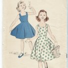 1950's Advance Sleeveless Dress Pattern 9040 Uncut Young Girls Size 8 Sundress