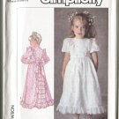 Simplicity 7982 Size 3 Pattern Childs Dress in 2 Lengths 1987 Unused