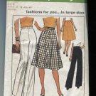 Simplicity Pattern Skirt Pants 7899 Size G Woman Waist 37-39-41 1/2-44 Unused 1977