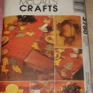 McCall's Crafts Fall Decorations Wreath Table Runner Napkins Placemat 2002