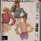 Misses Size 10 McCalls Krizia Pattern 7632 Unused Uncut 1981 Retro Long Sleeve Blouse