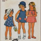 Simplicity Size 3 Girls Pattern 6951 Childs SunDress Pants Hat