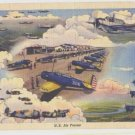 Linen Postcard Air Forces 1946 Army Air Corp