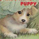 Hide Away Puppy Vintage Childrens Book Rand McNally Elf Bl/