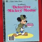 Vintage Little Golden Book LGB - Detective Mickey Mouse