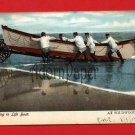 Vintage Postcard - Lifeboat at Wildwood NJ shore c1906  p20