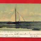 Vintage Postcard - Sloop sailing yacht, Atlantic City NJ T17