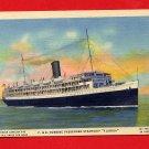 "Vintage Postcard - P&O Turbine Steamship ""Florida"" to Cuba T14"