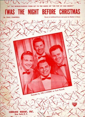 Twas Night before Christmas - vintage sheet music 1954 - 654
