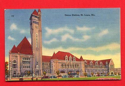 Vintage Postcard - Union train Station, St Louis Missouri Mo  79