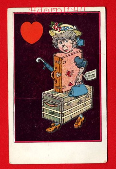 Vintage Postcard - Comic valentine - the old Bag 236