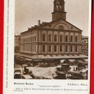 Vintage Postcard - Boston MA historic Faneuil Hall - Liberty 707