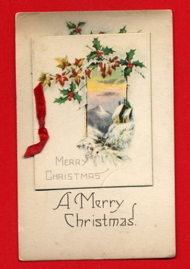Vintage Postcard - very unusual Christmas Double card 851